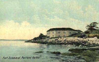 Fort Scammel - Portland, Maine ME Postcard
