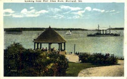 Fort Allen Park - Portland, Maine ME Postcard