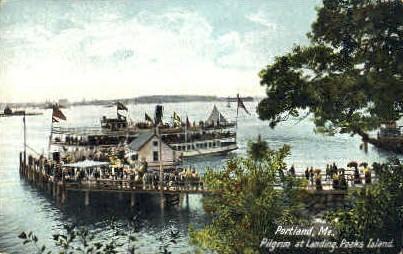 Pilgrim at Landing, Peaks Island - Portland, Maine ME Postcard