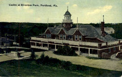 Casino at Riverton Park - Portland, Maine ME Postcard
