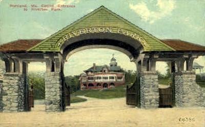 Casino Entrance, Riverton Park - Portland, Maine ME Postcard