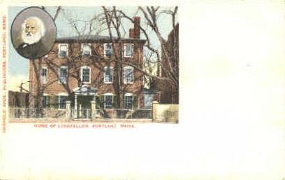 Home of Longfellow - Portland, Maine ME Postcard