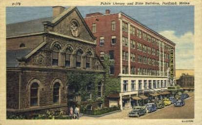 Public Library & State Building - Portland, Maine ME Postcard