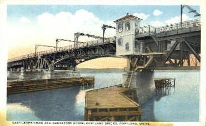 Cantilever Draw & Operators House - Portland, Maine ME Postcard