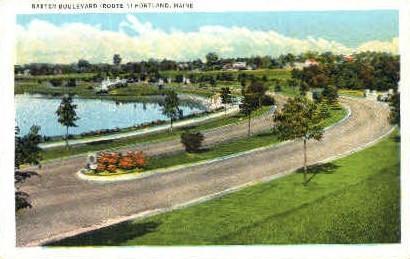 Baxter Blvd. - Portland, Maine ME Postcard