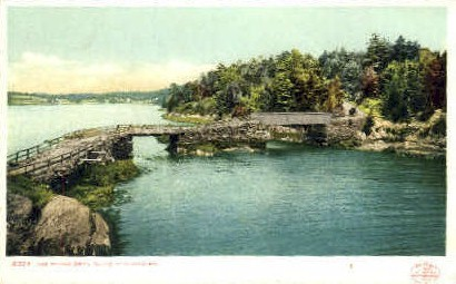 The Bridge, Orr's Island - Portland, Maine ME Postcard