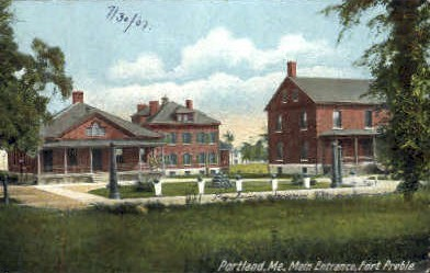 Main Entrance, Fort Preble - Portland, Maine ME Postcard