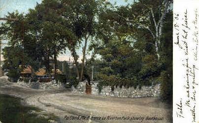 Entrance, Riverton Park - Portland, Maine ME Postcard