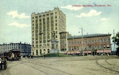 Fidelity Building - Portland, Maine ME Postcard