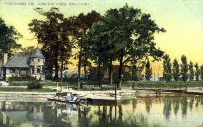 Deering Park - Portland, Maine ME Postcard