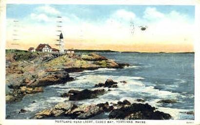 Portland Head Light, Casco Bay - Maine ME Postcard