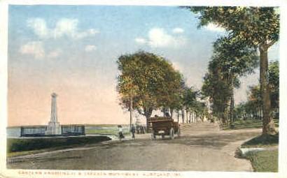 Eastern Promenade & Cleeves Monument - Portland, Maine ME Postcard