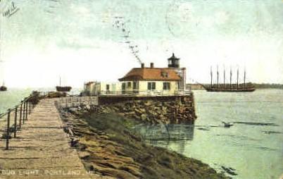 Bug Light - Portland, Maine ME Postcard