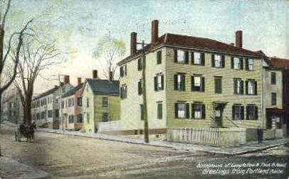 Birthplace of Longfellow - Portland, Maine ME Postcard