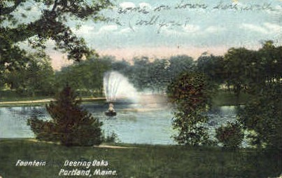 Deering Oaks - Portland, Maine ME Postcard