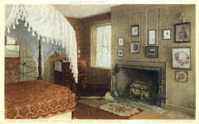 The Guest Room, Longfellow's Old Home - Portland, Maine ME Postcard