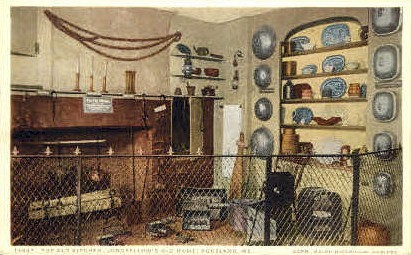 The Old Kitchen, Longfellow's Old Home - Portland, Maine ME Postcard