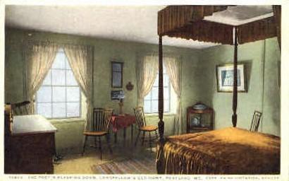 The Poet's Sleeping Room, Longfellow's Old Home - Portland, Maine ME Postcard