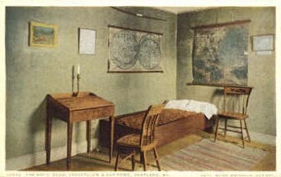 The Boys' Room, Longfellow's Old Home - Portland, Maine ME Postcard