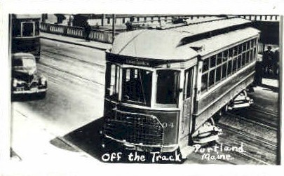Reproduction - Off the Track - Portland, Maine ME Postcard