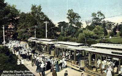 After the Theatre, Riverton Park - Portland, Maine ME Postcard