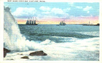 Casco Bay - Portland, Maine ME Postcard