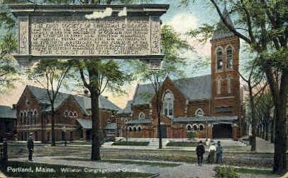 Williston Congregational Church - Portland, Maine ME Postcard