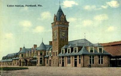 Union Station - Portland, Maine ME Postcard