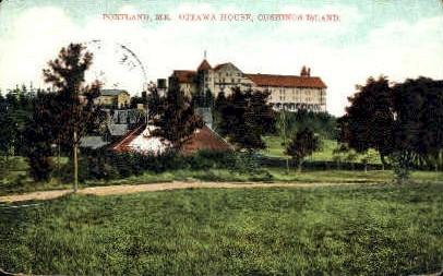 Ottawa House, Cushing Island - Portland, Maine ME Postcard