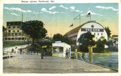 Peaks Island - Portland, Maine ME Postcard
