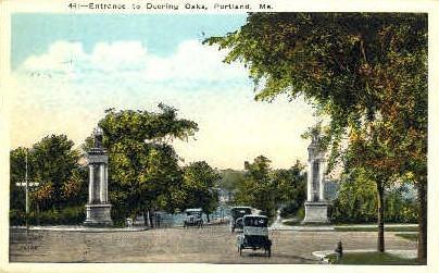Entrance, Deering Oaks - Portland, Maine ME Postcard