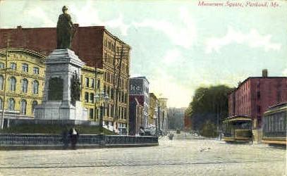 Monument Square - Portland, Maine ME Postcard