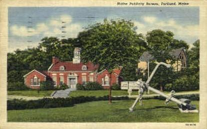 Maine Publicity Bureau - Portland Postcard