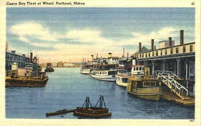 Casco Bay Fleet - Portland, Maine ME Postcard