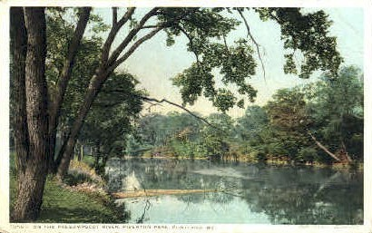 On the Presumpscot River, Riverton Park - Portland, Maine ME Postcard