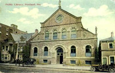 Public Library - Portland, Maine ME Postcard