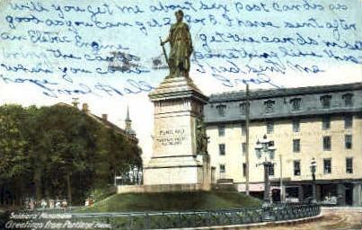 Soliders' Monument - Portland, Maine ME Postcard