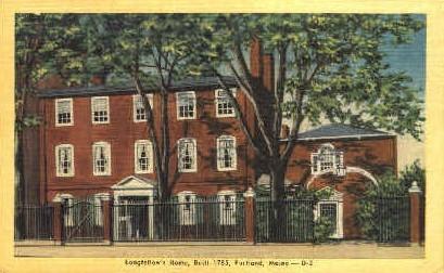 Longfellow's Home - Portland, Maine ME Postcard