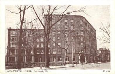 Lafayette Hotel - Portland, Maine ME Postcard