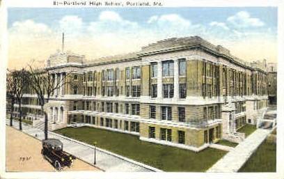 Portland High School - Maine ME Postcard