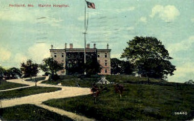 Marine Hospital - Portland, Maine ME Postcard