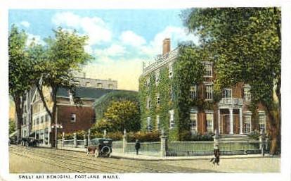 Sweet Art Memorial - Portland, Maine ME Postcard