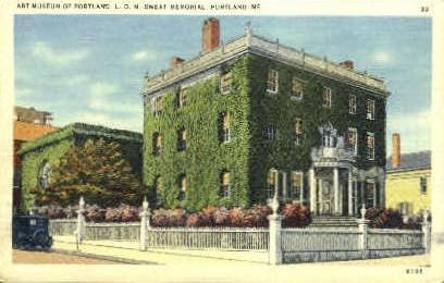 Art Museum of Portland, L.D.M. Sweat Memorial - Maine ME Postcard