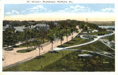 Western Promenade - Portland, Maine ME Postcard