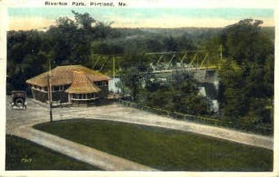 Riverton Park - Portland, Maine ME Postcard