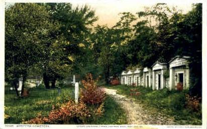 Longfellow's Family Tomb, Western Cemetery - Portland, Maine ME Postcard