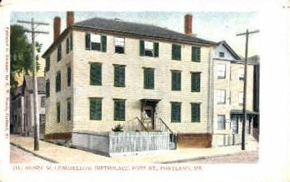 The Henry W. Longfellow  Birthplace - Portland, Maine ME Postcard