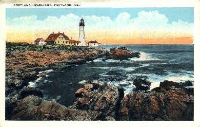 Portland Headlight - Maine ME Postcard