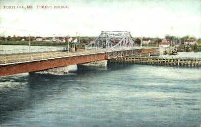 Tukey's Bridge - Portland, Maine ME Postcard