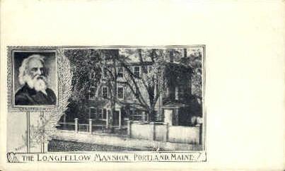 The Longfellow Mansion - Portland, Maine ME Postcard